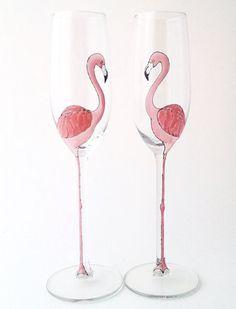 flamingo, acessorios, coisas, decoracao, roupas, taça, champagne
