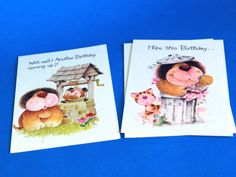 Humphrey Hound Birthday Cards with Envelopes  Kitsch by FunkyKoala