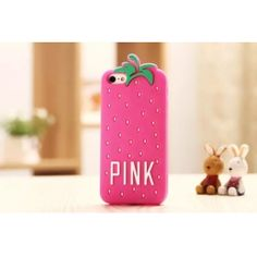 Victoria's secret Pink Pineapple Silicone Case for iPhone 5/5S