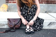 Office Style: Dark Hues and Florals