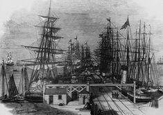 Inch Print (other products available) - Ships in dock at the Melbourne And Hobson& Bay Railway Company& pier at Sandridge, near Melbourne, Australia, (Photo by Hulton Archive/Getty Images) - Image supplied by Fine Art Storehouse - print made in the UK Fine Art Prints, Framed Prints, Canvas Prints, Melbourne Australia, Melbourne Cbd, Melbourne Victoria, South Australia, Melbourne Suburbs, Herzog