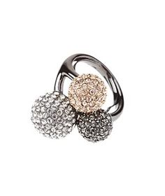 Soiree Trio Ring  Just the piece to help ring in 2012. (It has a built-in sizer for a precise fit.)