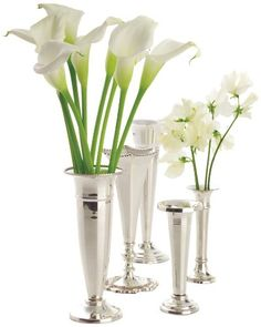 Two's Company Plaza Silver Vases, Set of 5 * Learn more by visiting the image link.