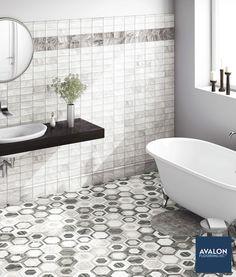 Hexagon tile heaven nnn#hexagontile #bathroomtile #bathroomdesign #interiordesign