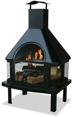 Endless Summer Black Wood Burning Outdoor Firehouse 360 View of Fire for sale online Backyard Bbq Pit, Cozy Backyard, Backyard Ideas, Patio Ideas, Backyard Office, Firepit Ideas, Gazebo Ideas, Backyard Pergola, Backyard Projects