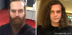 Harley Morenstein Before And After Shaving His Beard