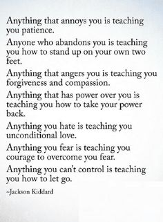 Quotes The Things that irritate you actually shape you, The things that anger you actually teach you how to control it.