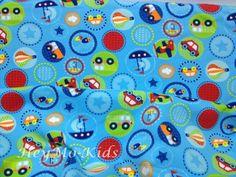 ★Autos bunt blau ★Stoff Baumwoll Jersey Stoffe  von HeyMo Kids auf DaWanda.com