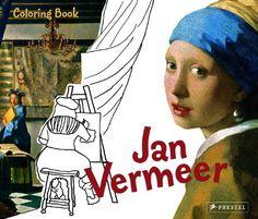 Coloring Book Jan Vermeer by Andrea Weibenbach