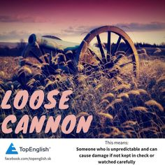 loose cannon English Idioms, Cannon, Movies, Movie Posters, Films, Film Poster, Cinema, Movie, Film