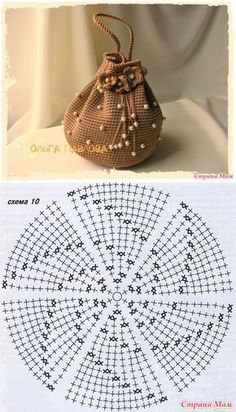 Marvelous Crochet A Shell Stitch Purse Bag Ideas. Wonderful Crochet A Shell Stitch Purse Bag Ideas. Crochet Diagram, Crochet Chart, Love Crochet, Bead Crochet, Crochet Hooks, Crochet Purse Patterns, Crochet Pouch, Crochet Gifts, Crochet Bags