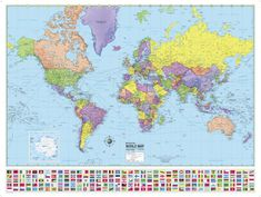 Magnetic world map living pinterest advanced u and world political classroom map combo laminated and mounted on durable spring roller assembly excellent intermediate pull down classroom map gumiabroncs Images