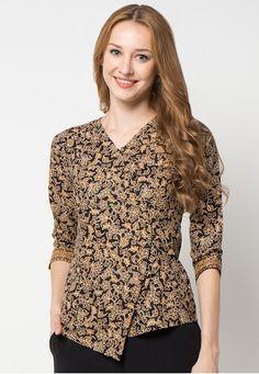 New dress casual business blouses Ideas Cute Formal Dresses, Trendy Dresses, Casual Dresses, Batik Fashion, Abaya Fashion, Fashion Outfits, Batik Kebaya, Batik Dress, Blouse Batik Modern