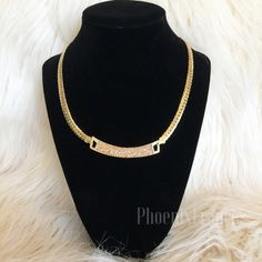 ▪️FINAL SALE▪️T&J Designs Gold Pave ID Necklace Beautiful champagne colored necklace in an ID Design style which is so on trend this season! Glass Crystals, lead free, nickel free. T&J Designs Jewelry Necklaces