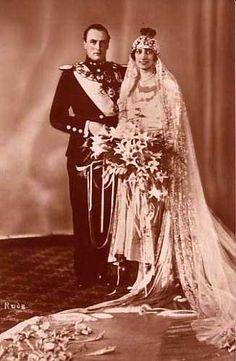 Le prince héritier Olav de Norvège et la princesse Märtha de Suède