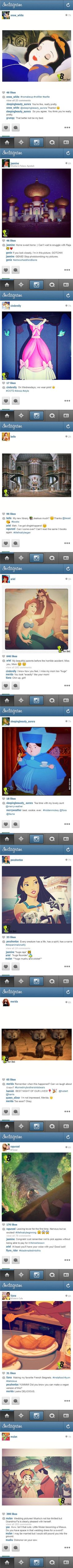 If the Princesses had Instagram...