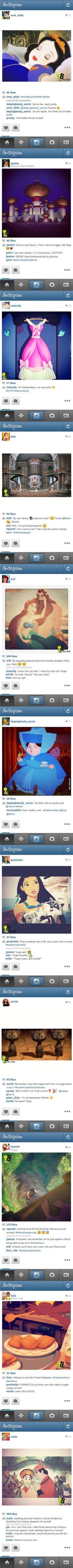 If Disney Princesses Had Instagram! Lol