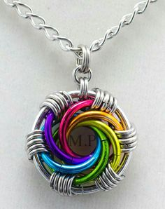Cool colorful pendant.