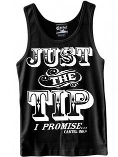 "Men's ""Just The Tip"" Tank by Cartel Ink (Black)"