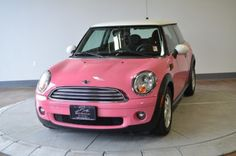 "2007 Pink MINI Cooper @Suzanne, with a ""z"" mikel This is another car I want to see Steven drive ;)"