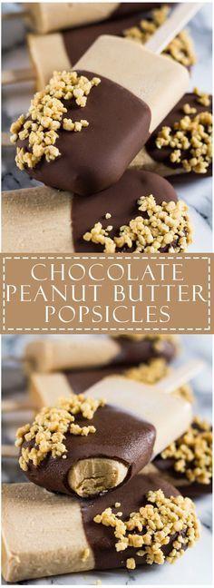 Chocolate Peanut Butter Yoghurt Popsicles   marshasbakingaddiction.com…
