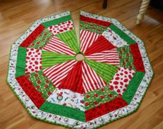 Reserved for Francine - Quilted Christmas Tree Skirt, The Grinch Grinch Trees, Grinch Christmas Tree, Christmas Stockings, Christmas Angels, Christmas Bells, Xmas Tree Skirts, Christmas Tree Skirts Patterns, Christmas Projects, Christmas Crafts