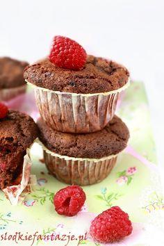 Raspberry Brownie Muffins