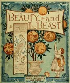 Cover of Beauty and the Beast, An Illustrated Picture Book by Walter Crane, 1874.