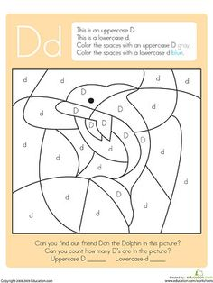 Find the hidden objects in each of these color-by-letter alphabet worksheets.