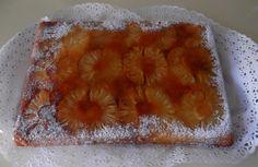 #Torta rovesciata all'#ananas. Molto semplice e veloce da realizzare, questa #torta ha un aspetto scenografico. E' il #dessert ideale per chiudere in #dolcezza un elegante #menu di #compleanno.