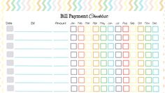 Here's a Free Bill Payment Checklist to Organize Your Bill Payments: Monthly…