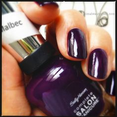 Sally-Hansen-Malbec. My new FALL go to color