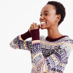 Sequin Fair Isle sweater : sweaters | J.Crew
