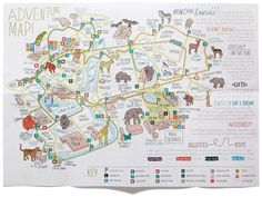 Manchester-based design studio Music has just completed the rebranding of Chester Zoo. The new brand identity centres on a bespoke handdrawn typeface and logotype, created in collaboration with illustrator Adam Hayes. Zoo Signage, Zoo Map, Pamphlet Design, Architecture Mapping, Kids Zoo, Campus Map, Map Projects, Chester Zoo, Map Pictures