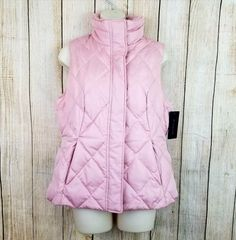 M JULIAN quilted puffer Down & Feathers millennium pink vest women's medium NWT | Clothing, Shoes & Accessories, Women's Clothing, Vests | eBay!