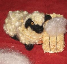 Tutorial ~Needle Felted Sheep with Armature ~by Teddy Bear Review Fiber Artist Gerry of Gourmet Felted
