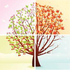 Abstract four season tree. Free art print of Four season tree. Tree Illustration, Illustrations, Four Seasons Art, Tree Branch Tattoo, Season Calendar, Free Art Prints, Autumn Trees, Free Vector Art, Tree Art