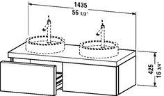 Starck Furniture Vanity unit wall-mounted
