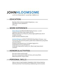 Fresh Take - Free Resume Template by Hloom.com