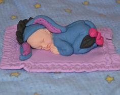 Sleeping baby bear cake topper Winnie the Pooh by DreamDayShoppe