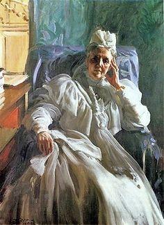 Anders Zorn (Swedish painter, sculptor and printmaker in etching) 1860 - 1920 Drottning Sophia (Queen Sophia), 1909 oil on canvas 130 x cm. Nassau, Queen Sophia, Beauty In Art, John Singer Sargent, Portraits, Art World, Figurative Art, Printmaking, Oil On Canvas