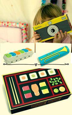 1 adesivo + 1 embalagem usada = 1 brinquedo