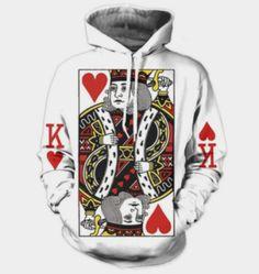 3d Print Mens Women hoodies Sweater Sweatshirt King Donald Trump  Pullover Tops
