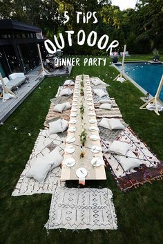 5 tips: Outdoor dinner party