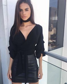 Swans Style is the top online fashion store for women. Shop sexy club dresses, jeans, shoes, bodysuits, skirts and more. Cute Fashion, Fashion Outfits, Womens Fashion, Grunge Outfits, Outfits Fiesta, Party Outfits, Sophia Miacova, Look Office, Sexy Blouse