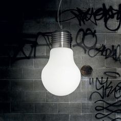 Kreatívne sklenené svietidlo s mliečnym sklom LUCE BIANCO Drum Pendant, Globe Pendant, Lantern Pendant, Glass Diffuser, Globe Lights, Home Living, Kitchen Lighting, Light Bulb, Metallica