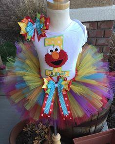 Elmo Sesame Street Birthday Party Tutu by BooBooKittyBirthdays