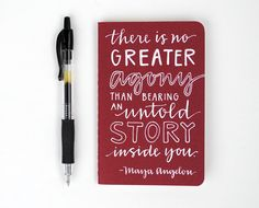 HandLettered Mini Journal Modern Calligraphy and by EmDashPaperCo
