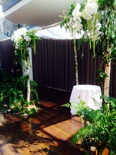 Birch branch chuppah or alter by carrie wilcox floral design