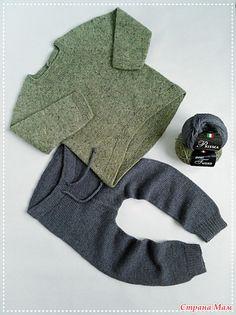 Кофточка и штанишки для мальчика спицами